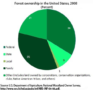 Forest ownership in the United States, 2008