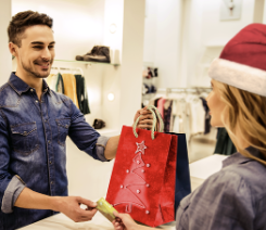 Holiday employment in retail trade