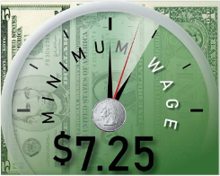 Federal minimum wage of $7.25