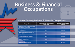 Business finance occupations