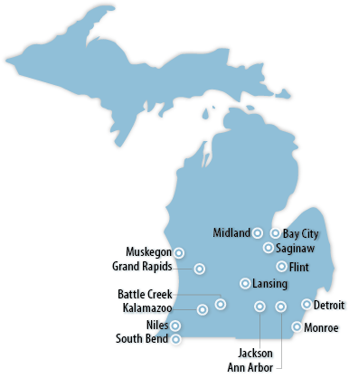 Michigan Area Map