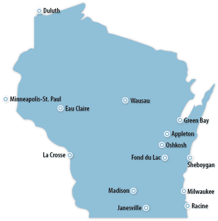 Wisconsin Area Map