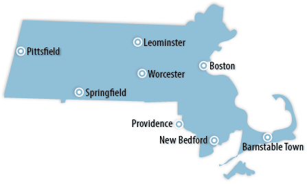 Massachusetts Area Map