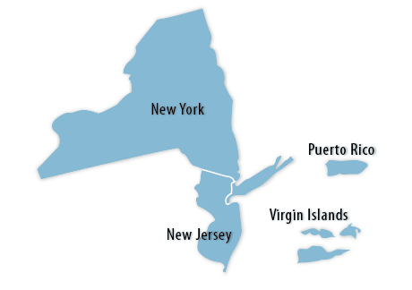 New York–New Jersey Area Map