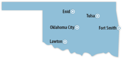 Oklahoma Area Map