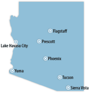 Arizona Area Map
