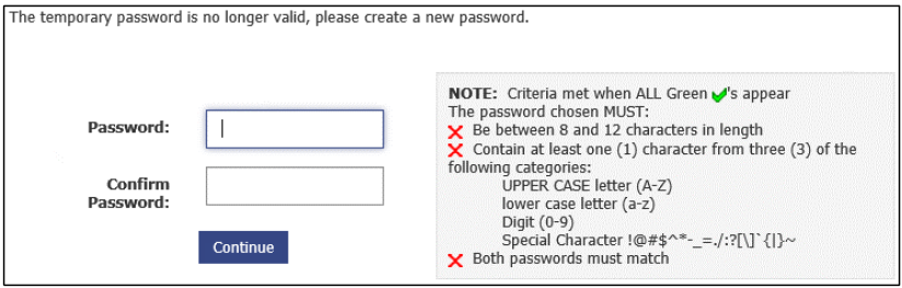 Create a Permanent Password Screen