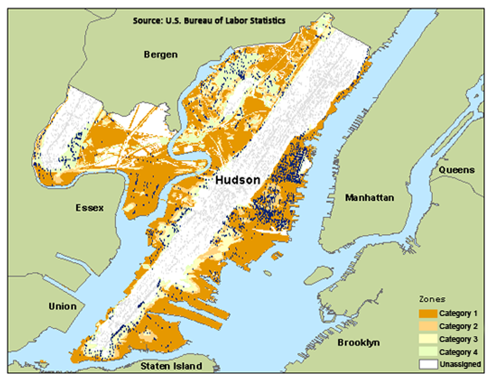 Employment in New Jersey and New York flood zones-Hudson, NJ image