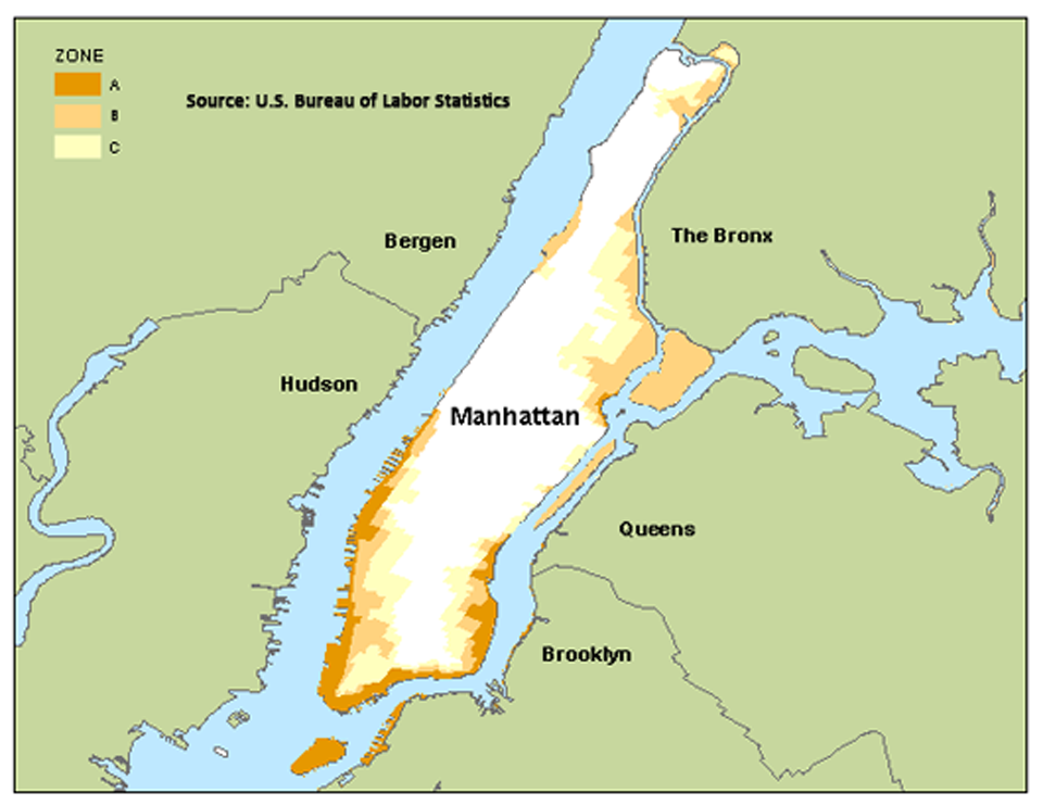 Employment in New Jersey and New York flood zones-Manhattan, NY image