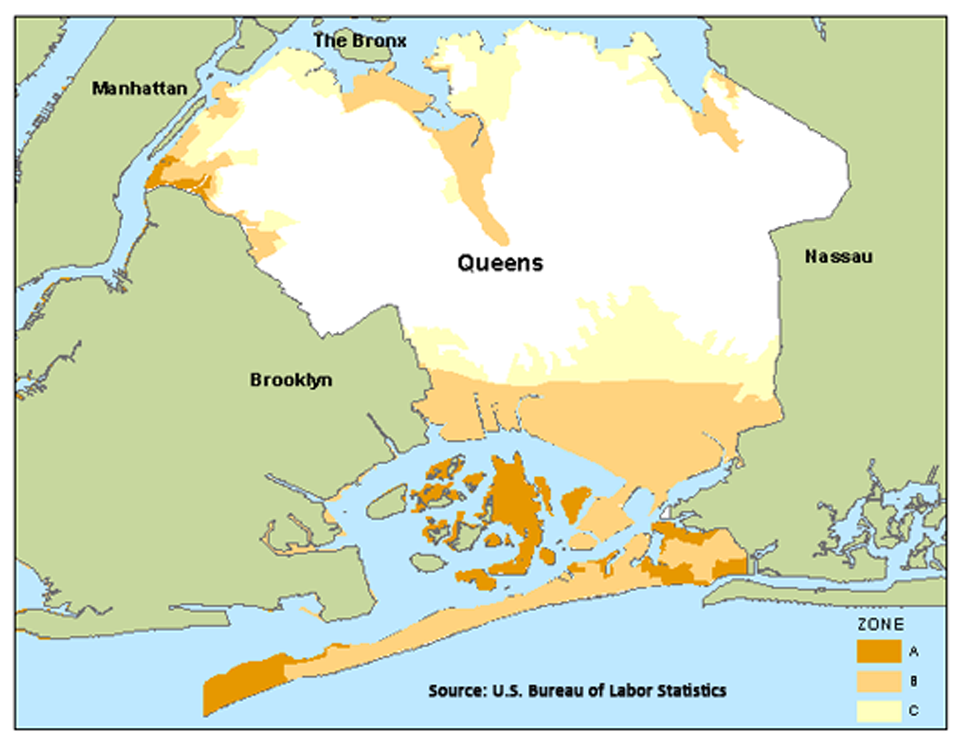 Employment in New Jersey and New York flood zones-Queens, NY image