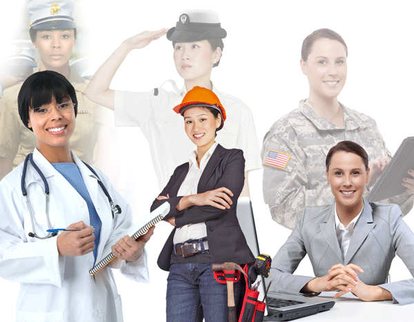 Women veterans in the labor force image